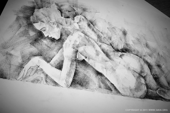 0027 :: SketchBook Page 7 :: buy art prints :: Figure Drawing Female Image charcoal Body Sketch study Pose pencil Human Body