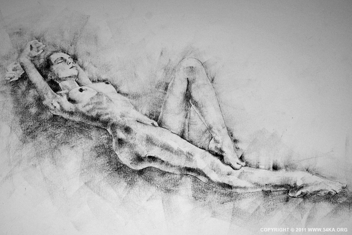 00011 :: SketchBook Page 15 :: view all sketchbook  :: Figure Drawing Female Image charcoal Body Sketch study Pose pencil Human Body