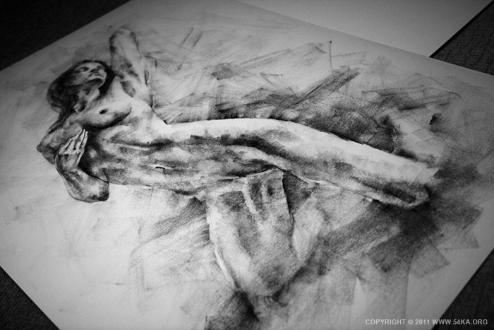 0003 :: SketchBook Page 12 :: buy art prints :: Figure Drawing Female Image charcoal Body Sketch study Pose pencil Human Body