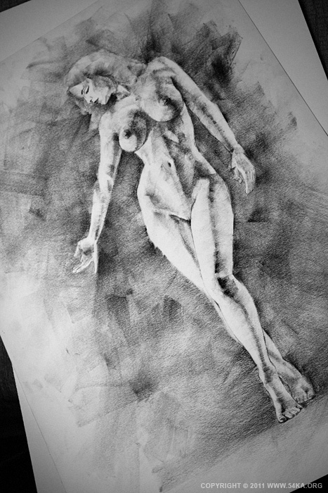 002 :: SketchBook Page 13 :: view all sketchbook  :: Figure Drawing Female Image charcoal Body Sketch study Pose pencil Human Body