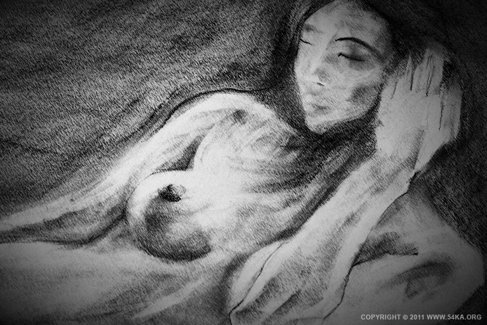 0023 :: SketchBook Page 18 :: buy art prints :: Figure Drawing Female Image charcoal Body Sketch study Pose pencil Human Body