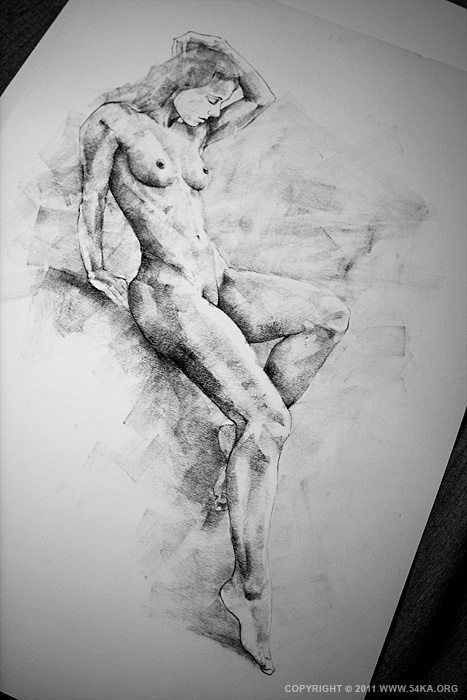 page 19 by 54ka 03 :: SketchBook Page 19 :: view all sketchbook  :: Figure Drawing Female Image charcoal Body Sketch study Pose pencil Human Body