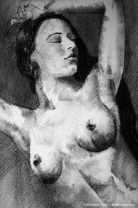 Page 23 02 by 54ka :: SketchBook Page 23 :: view all sketchbook  :: Figure Drawing Female Image charcoal Body Sketch study Pose pencil Human Body