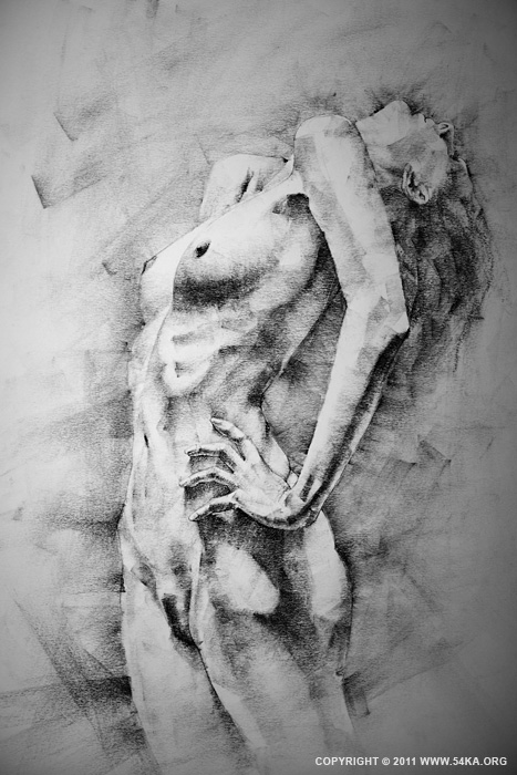 Page 24 01 by 54ka :: SketchBook Page 24 :: buy art prints :: Figure Drawing Female Image charcoal Body Sketch study Pose pencil Human Body