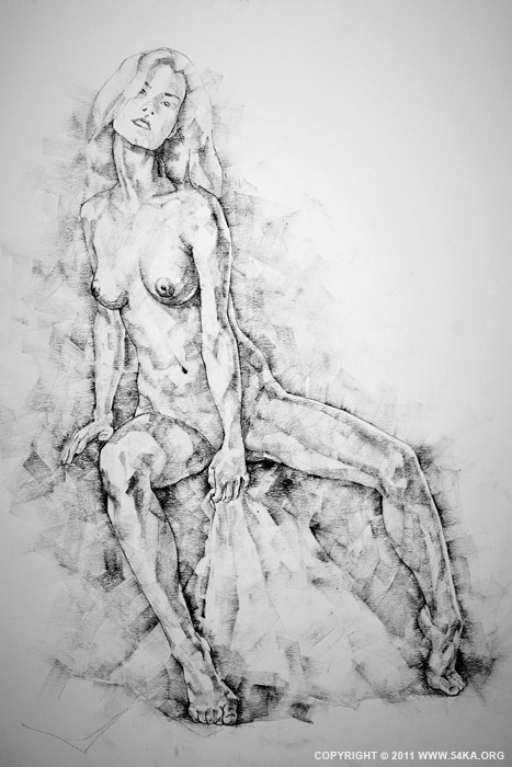 Page 28 01 by 54ka :: SketchBook Page 28 :: view all sketchbook  :: Figure Drawing Female Image charcoal Body Sketch study Pose pencil Human Body