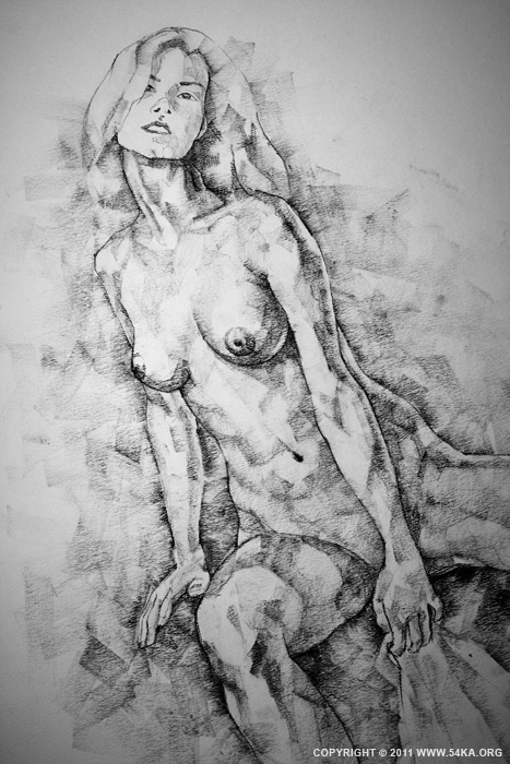 Page 28 02 by 54ka :: SketchBook Page 28 :: view all sketchbook  :: Figure Drawing Female Image charcoal Body Sketch study Pose pencil Human Body