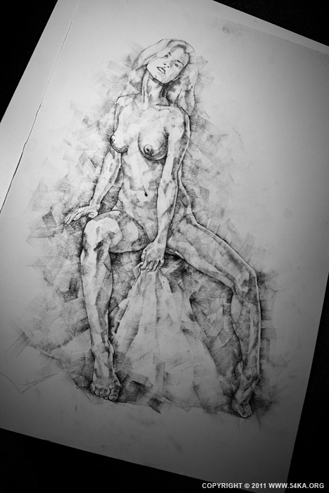 Page 28 04 by 54ka :: SketchBook Page 28 :: view all sketchbook  :: Figure Drawing Female Image charcoal Body Sketch study Pose pencil Human Body