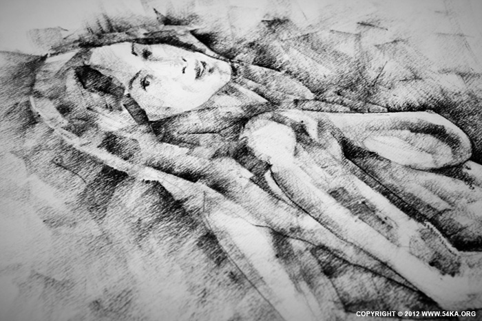 Page 32 02 by 54ka :: SketchBook Page 32 :: view all sketchbook  :: Figure Drawing Female Image charcoal Body Sketch study Pose pencil Human Body