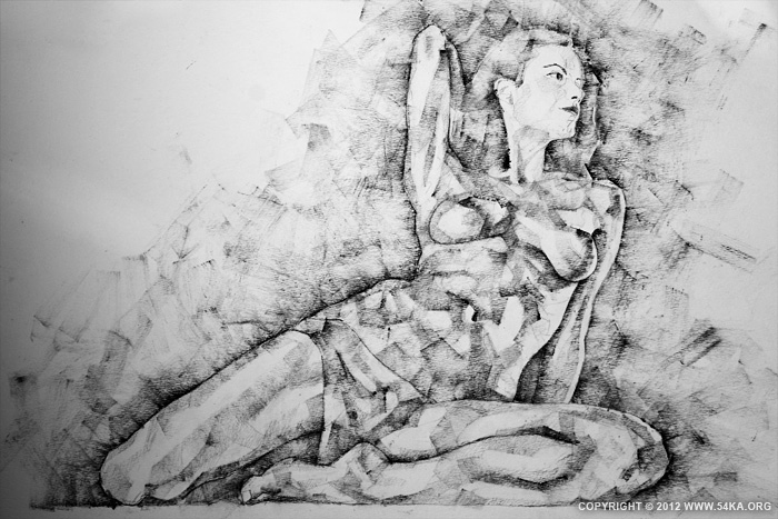 Page 33 01 by 54ka :: SketchBook Page 33 :: buy art prints :: Figure Drawing Female Image charcoal Body Sketch study Pose pencil Human Body