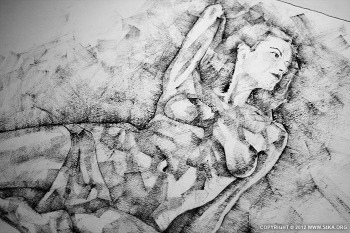 Page 33 02 by 54ka :: SketchBook Page 33 :: view all sketchbook  :: Figure Drawing Female Image charcoal Body Sketch study Pose pencil Human Body
