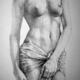 SketchBook Page 35 – The Female Pencil Drawing pose drawing