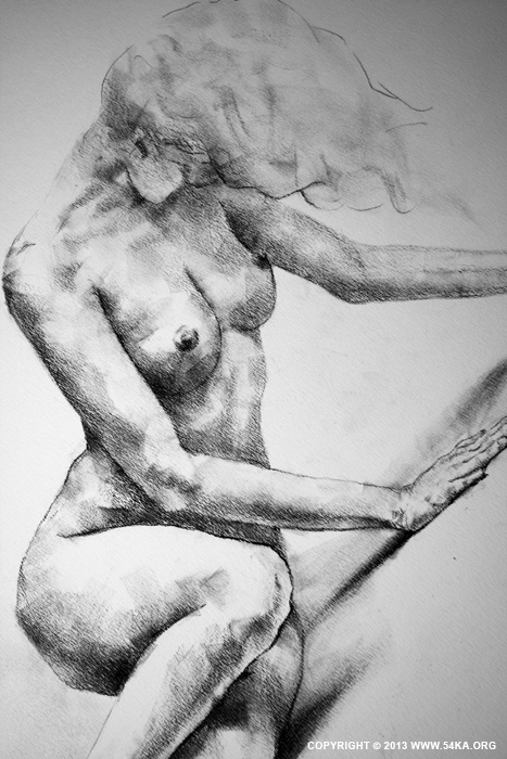 Page 37 02 by 54ka :: SketchBook Page 37 – Lateral Pose Sketch Drawing :: view all sketchbook  :: Figure Drawing Female Image charcoal Body Sketch study Pose pencil Human Body