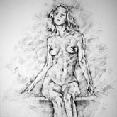 SketchBook Page 39 – Drawing Female Full Body Sitting Front Pose pose drawing