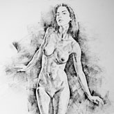 SketchBook Page 41 – Live Figure Drawing Model Standing Pose