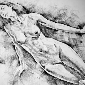 SketchBook Page 41 – Live Figure Drawing Model Standing Pose