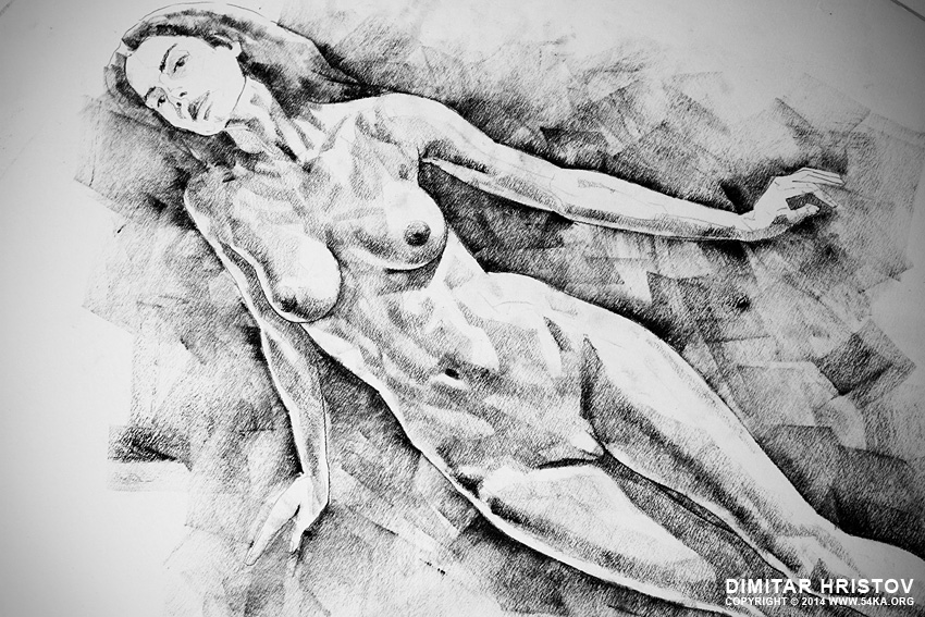 sketchbook page 4 live figure drawing model standing pose 02 by 54ka :: SketchBook Page 41 – Live Figure Drawing Model Standing Pose :: view all sketchbook  :: Figure Drawing Female Image charcoal Body Sketch study Pose pencil Human Body