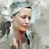 Portrait painting of beautiful girl