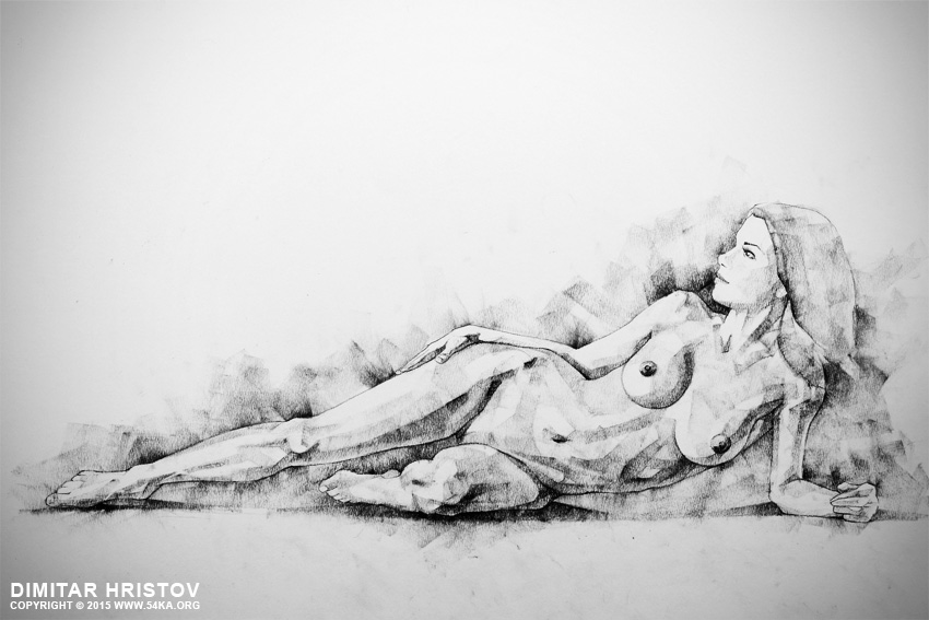 figure drawing fine art woman classical pose 01 by 54ka :: SketchBook Page 51   Figure Drawing   Fine Art   Woman classical pose :: view all sketchbook  :: Figure Drawing Female Image charcoal Body Sketch study Pose pencil Human Body