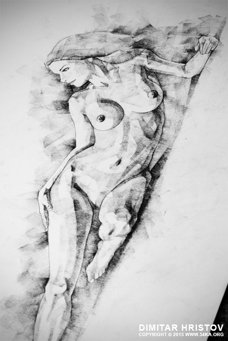 figure drawing fine art woman classical pose 03 by 54ka :: SketchBook Page 51   Figure Drawing   Fine Art   Woman classical pose :: view all sketchbook  :: Figure Drawing Female Image charcoal Body Sketch study Pose pencil Human Body