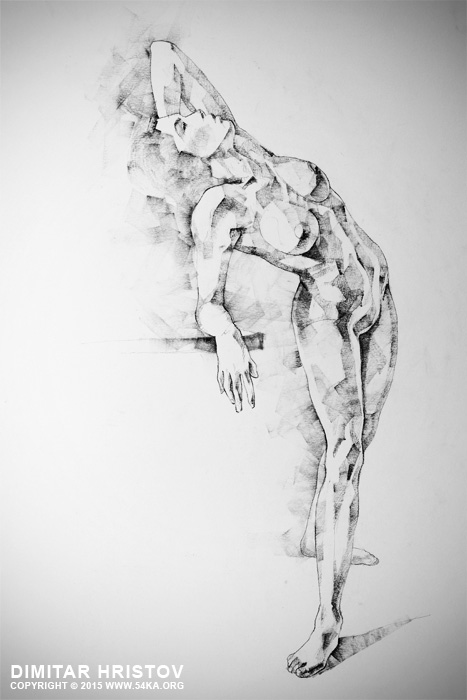 sketchbook page 52 girl art drawing classical pose 01 by 54ka :: SketchBook Page 52   Girl art drawing classical pose :: view all sketchbook  :: Figure Drawing Female Image charcoal Body Sketch study Pose pencil Human Body