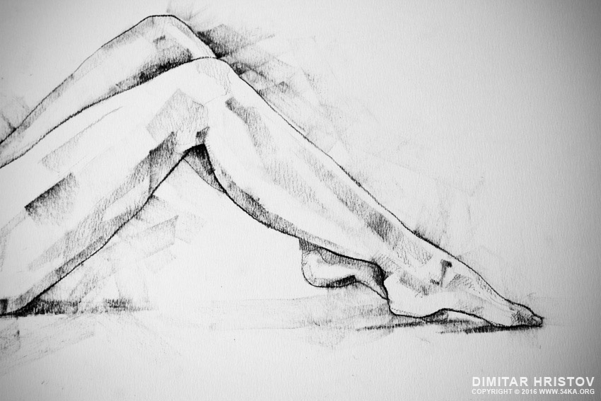sketchbook page 55 charcoal drawing woman lateral pose 03 by 54ka :: SketchBook Page 55 – Charcoal drawing woman lateral pose :: view all sketchbook index top  :: Figure Drawing Female Image charcoal Body Sketch study Pose pencil Human Body