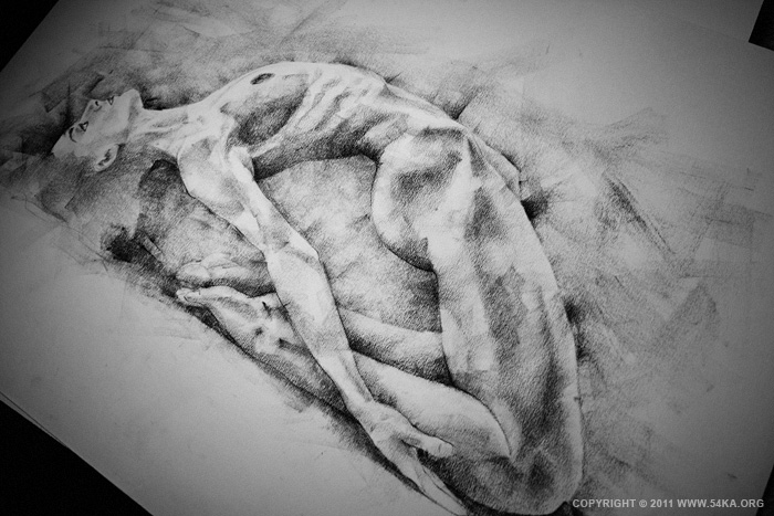 0025 :: SketchBook Page 6 :: view all sketchbook  :: Figure Drawing Female Image charcoal Body Sketch study Pose pencil Human Body