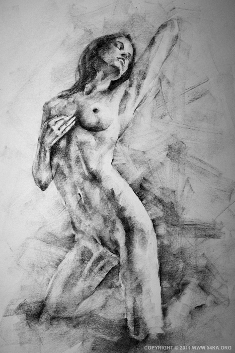 0002 :: SketchBook Page 12 :: view all figure drawing charcoal art  :: Figure Drawing Female Image charcoal Body Sketch study Pose pencil Human Body