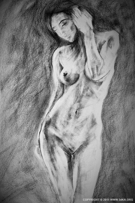 0013 :: SketchBook Page 18 :: view all figure drawing featured charcoal art  :: Figure Drawing Female Image charcoal Body Sketch study Pose pencil Human Body