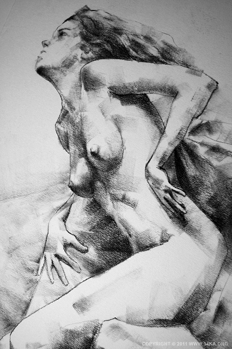 IMG 5303 :: SketchBook Page 11 :: view all sketchbook index top  :: Figure Drawing Female Image charcoal Body Sketch study Pose pencil Human Body