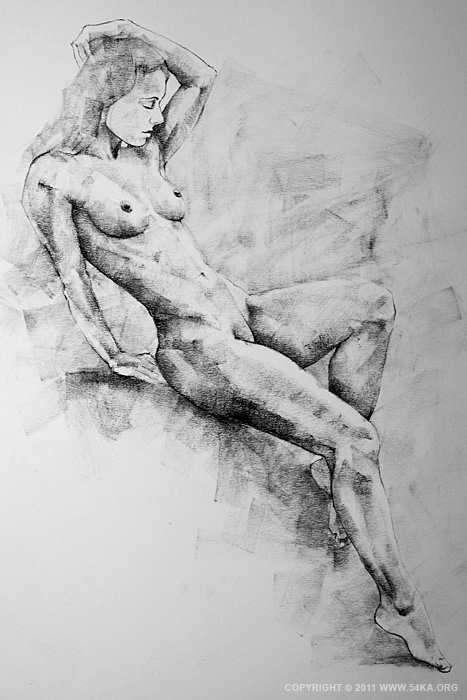 page 19 by 54ka 01 :: SketchBook Page 19 :: view all sketchbook  :: Figure Drawing Female Image charcoal Body Sketch study Pose pencil Human Body