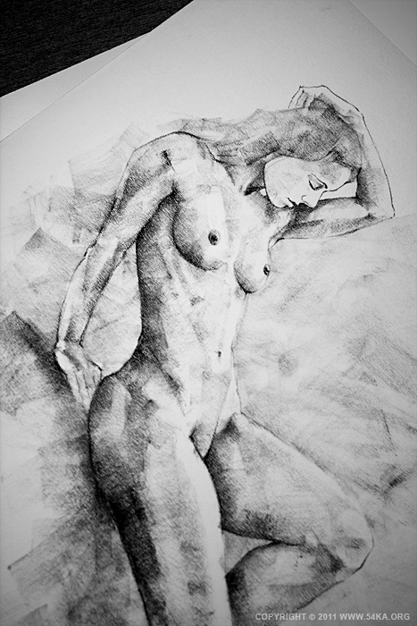 page 19 by 54ka 04 :: SketchBook Page 19 :: view all sketchbook  :: Figure Drawing Female Image charcoal Body Sketch study Pose pencil Human Body