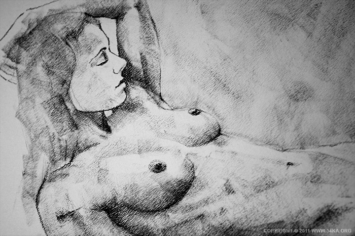 page 19 by 54ka 05 :: SketchBook Page 19 :: view all sketchbook  :: Figure Drawing Female Image charcoal Body Sketch study Pose pencil Human Body