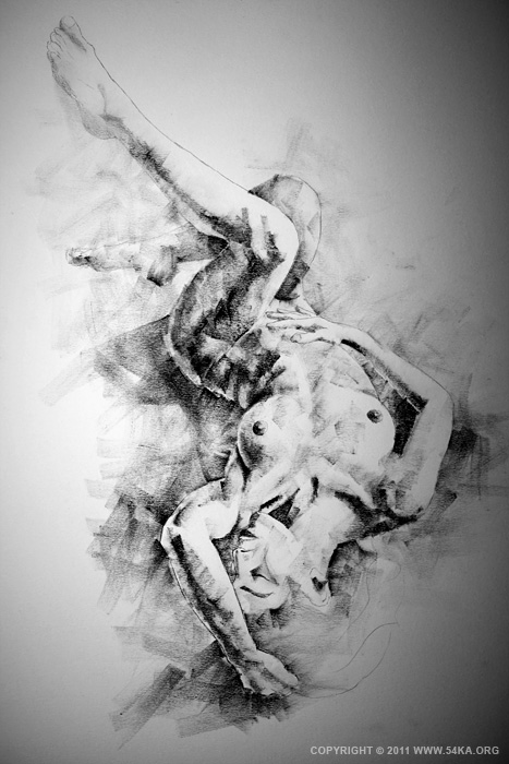 Page 21 01 by 54ka :: SketchBook Page 21 :: view all figure drawing charcoal art  :: Figure Drawing Female Image charcoal Body Sketch study Pose pencil Human Body