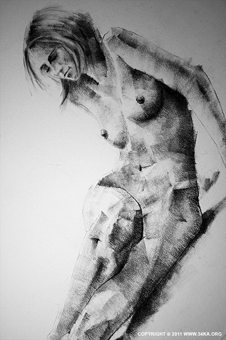page 20 03 by 54ka :: SketchBook Page 20 :: view all sketchbook  :: Figure Drawing Female Image charcoal Body Sketch study Pose pencil Human Body