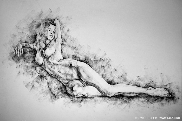 Page 25 01 by 54ka :: SketchBook Page 25 :: view all index top figure drawing featured charcoal art  :: Figure Drawing Female Image charcoal Body Sketch study Pose pencil Human Body