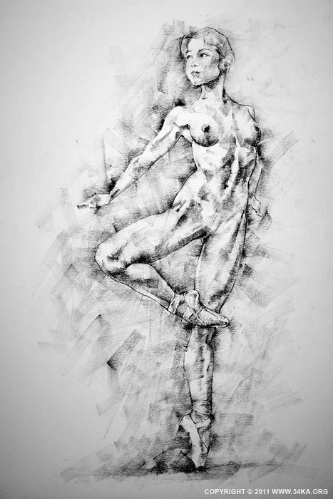 Page 27 01 by 54ka :: SketchBook Page 27 :: view all sketchbook  :: Figure Drawing Female Image charcoal Body Sketch study Pose pencil Human Body