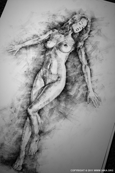 Page 29 03 by 54ka :: SketchBook Page 29 :: view all sketchbook  :: Figure Drawing Female Image charcoal Body Sketch study Pose pencil Human Body