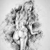 SketchBook Page 34 – Female figure drawing