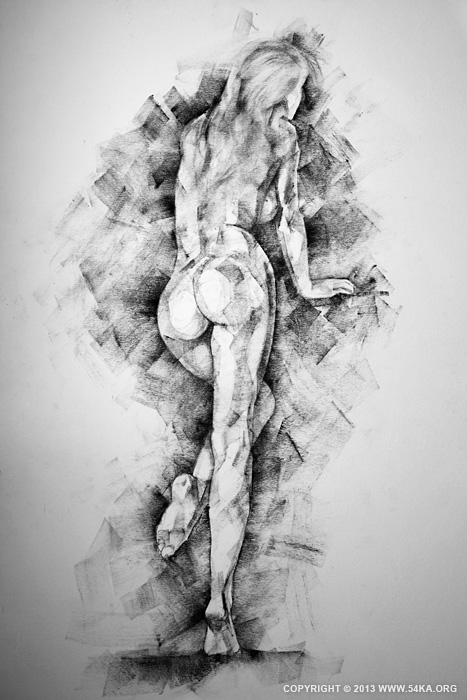 Page 34 01 by 54ka :: SketchBook Page 34   Female figure drawing :: view all sketchbook  :: Figure Drawing Female Image charcoal Body Sketch study Pose pencil Human Body