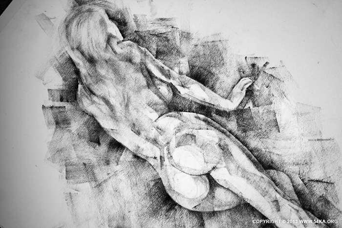 Page 34 02 by 54ka :: SketchBook Page 34   Female figure drawing :: view all sketchbook  :: Figure Drawing Female Image charcoal Body Sketch study Pose pencil Human Body