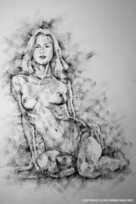 Page 36 01 by 54ka :: SketchBook Page 36   Female Sitting Pose Drawing :: view all sketchbook  :: Figure Drawing Female Image charcoal Body Sketch study Pose pencil Human Body