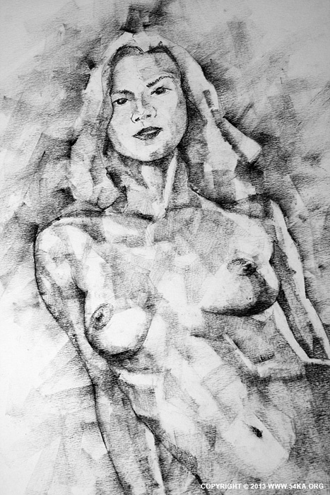 Page 36 02 by 54ka :: SketchBook Page 36   Female Sitting Pose Drawing :: view all sketchbook  :: Figure Drawing Female Image charcoal Body Sketch study Pose pencil Human Body