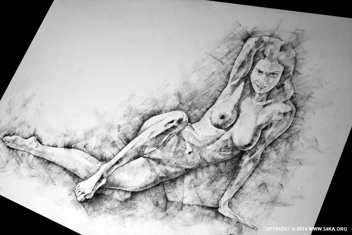 Page 38 02 by 54ka :: SketchBook Page 38   Female Sitting Lateral Pose Drawing  :: view all sketchbook  :: Figure Drawing Female Image charcoal Body Sketch study Pose pencil Human Body