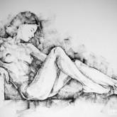 SketchBook Page 42 – Drawing girl sitting pose