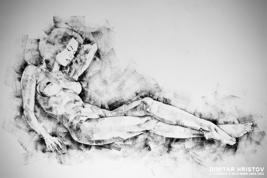 sketchbook page 43 whole figure drawing girl beautiful light by 54ka :: SketchBook Page 44 – Whole figure drawing   girl beautiful light :: view all sketchbook index top  :: Figure Drawing Female Image charcoal Body Sketch study Pose pencil Human Body