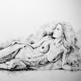 SketchBook Page 51 – Figure Drawing – Fine Art – Woman classical pose