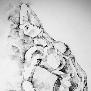 SketchBook Page 52 – Girl art drawing classical pose