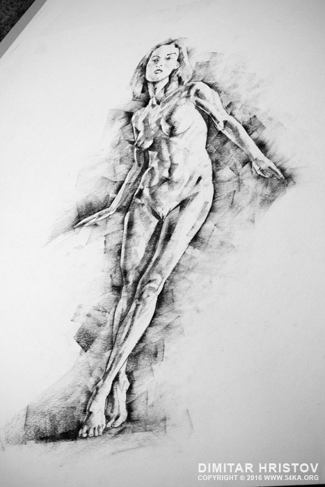 sketchbook page 56 girl stand up pose drawing 05 by 54ka :: SketchBook Page 56 – Girl stand up pose drawing :: view all sketchbook  :: Figure Drawing Female Image charcoal Body Sketch study Pose pencil Human Body