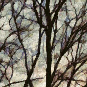 Branches Abstract Painting – Abstract Sunset Tree