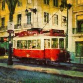 Portugal Tram in Lisbon – Painting